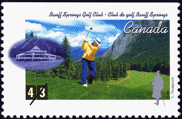 Banff Springs Golf Club, Stanley Thompson Canada Postage Stamp | Golf in Canada