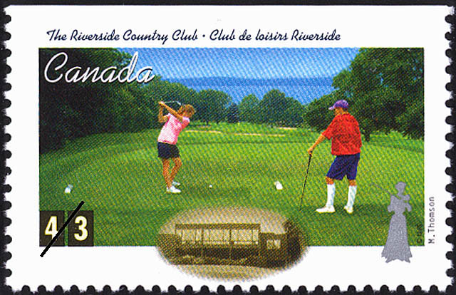 The Riverside Country Club, Mabel Thomson Canada Postage Stamp | Golf in Canada