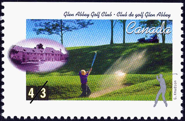 Glen Abbey Golf Club, George Knudson Canada Postage Stamp   Golf in Canada