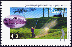 Glen Abbey Golf Club, George Knudson Canada Postage Stamp | Golf in Canada