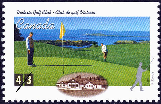 Victoria Golf Club, Harvey Combe Canada Postage Stamp | Golf in Canada