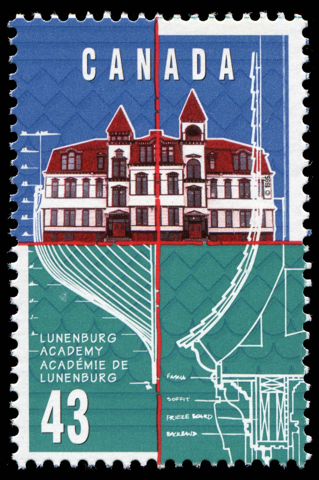 Lunenburg Academy Canada Postage Stamp
