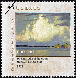 Serenity, Lake of the Woods, 1922, Johnston Canada Postage Stamp | Canada Day, The Group of Seven, 1920-1995, Original Members