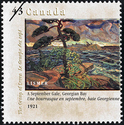 A September Gale, Georgian Bay, 1921, Lismer Canada Postage Stamp | Canada Day, The Group of Seven, 1920-1995, Original Members