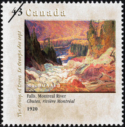 Falls, Montreal River, 1920, MacDonald Canada Postage Stamp | Canada Day, The Group of Seven, 1920-1995, Original Members
