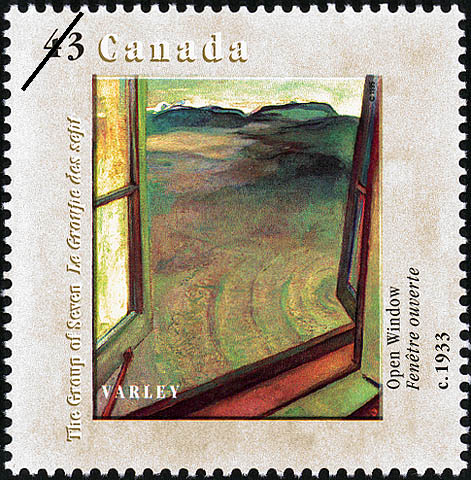 Open Window, circa 1933, Varley Canada Postage Stamp | Canada Day, The Group of Seven, 1920-1995, Original Members