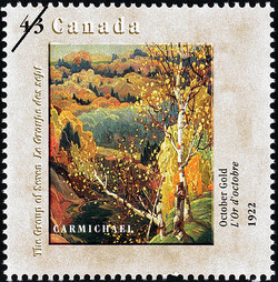 October Gold, 1922, Carmichael Canada Postage Stamp | Canada Day, The Group of Seven, 1920-1995, Original Members