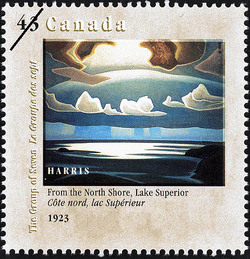 From the North Shore, Lake Superior, 1923, Harris Canada Postage Stamp | Canada Day, The Group of Seven, 1920-1995, Original Members