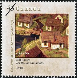 Mill Houses, 1928, Casson Canada Postage Stamp | Canada Day, The Group of Seven, 1920-1995, New Members
