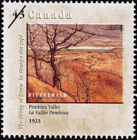 Pembina Valley, 1923, FitzGerald Canada Postage Stamp | Canada Day, The Group of Seven, 1920-1995, New Members