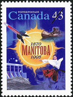 Manitoba, 1870-1995 Canada Postage Stamp