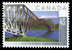 Quebec Bridge, Quebec, Quebec Canada Postage Stamp | Bridges