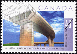 401-403-410 Interchange, Mississauga, Ontario Canada Postage Stamp | Bridges