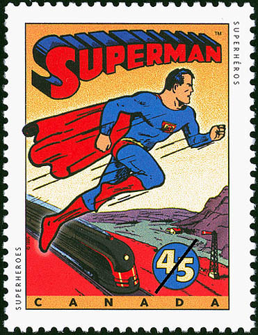 Superman Canada Postage Stamp | Comic Book Superheroes