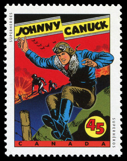Johnny Canuck Canada Postage Stamp | Comic Book Superheroes