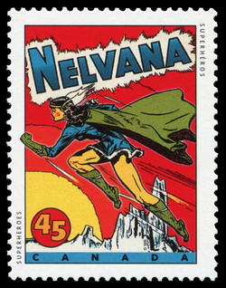 Nelvana Canada Postage Stamp | Comic Book Superheroes