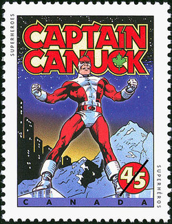 Captain Canuck Canada Postage Stamp | Comic Book Superheroes