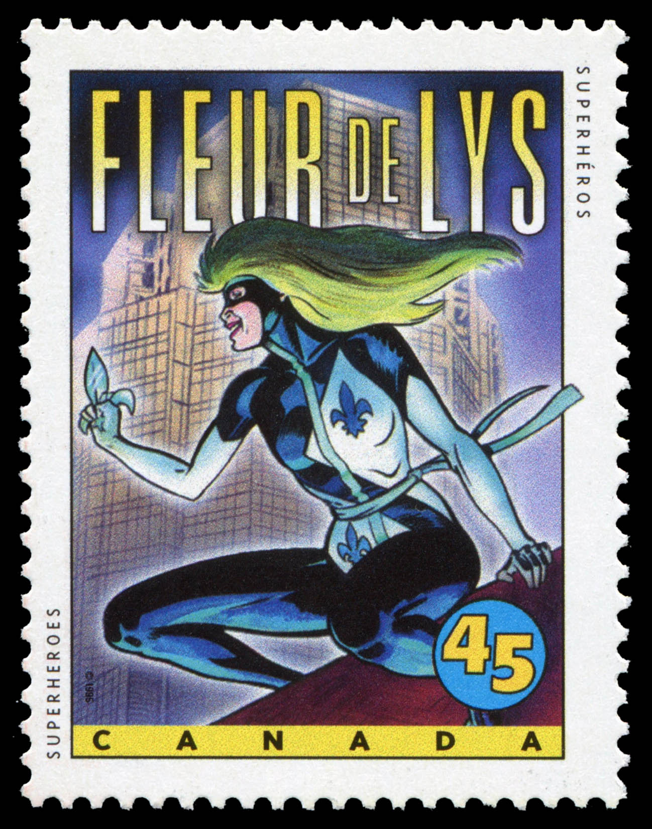 Fleur de Lys Canada Postage Stamp | Comic Book Superheroes
