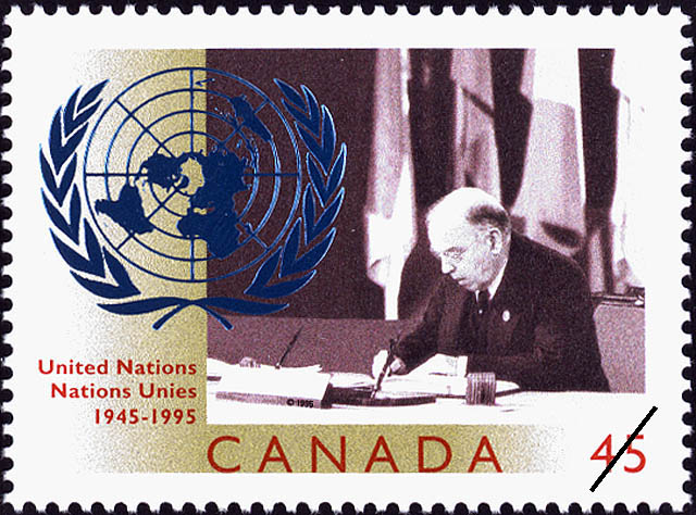 United Nations, 1945-1995 Canada Postage Stamp