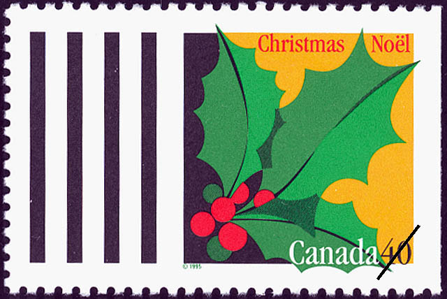 Holly Canada Postage Stamp | Christmas