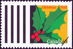 Holly Canada Postage Stamp   Christmas