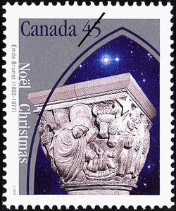 The Nativity Canada Postage Stamp | Christmas, Emile Brunet (1893-1977)
