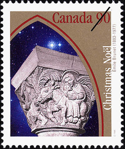 The Flight to Egypt Canada Postage Stamp | Christmas, Emile Brunet (1893-1977)