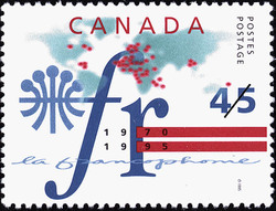 La Francophonie, 1970-1995 Canada Postage Stamp