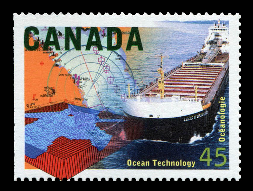 Ocean Technology Canada Postage Stamp   High Technology in Canada