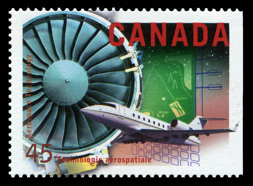 Aerospace Technology Canada Postage Stamp | High Technology in Canada