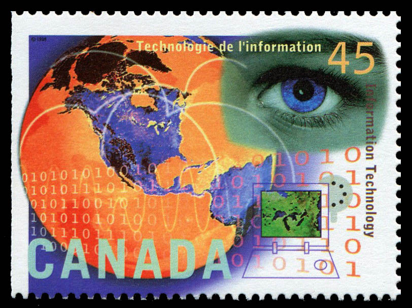 Information Technology Canada Postage Stamp | High Technology in Canada
