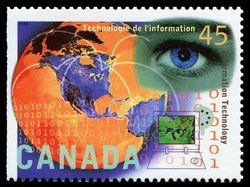 Information Technology Canada Postage Stamp