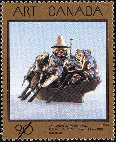 The Spirit of Haida Gwaii, 1986-1991, Bill Reid Canada Postage Stamp