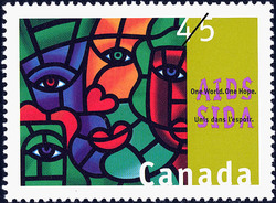 AIDS, One World. One Hope. Canada Postage Stamp