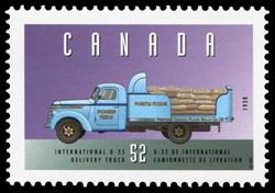 International D-35, 1938, Delivery Truck Canada Postage Stamp | Historic Land Vehicles, Industrial and Commercial Vehicles