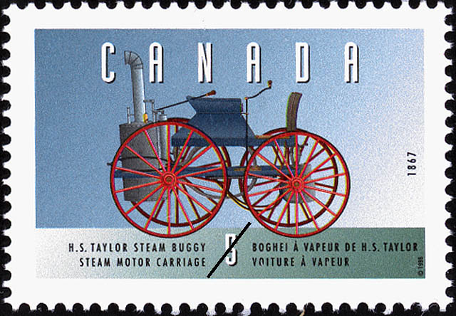 Henry Seth Taylor Steam Buggy, 1867, Steam Motor Carriage Canada Postage Stamp | Historic Land Vehicles