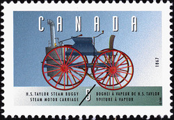 Henry Seth Taylor Steam Buggy, 1867, Steam Motor Carriage Canada Postage Stamp