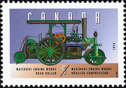 Waterous Engine Works, 1914, Road Roller Canada Postage Stamp