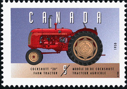 "Cockshutt ""30"", 1950, Farm Tractor Canada Postage Stamp 