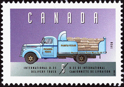 International D-35, 1938, Delivery Truck Canada Postage Stamp | Historic Land Vehicles