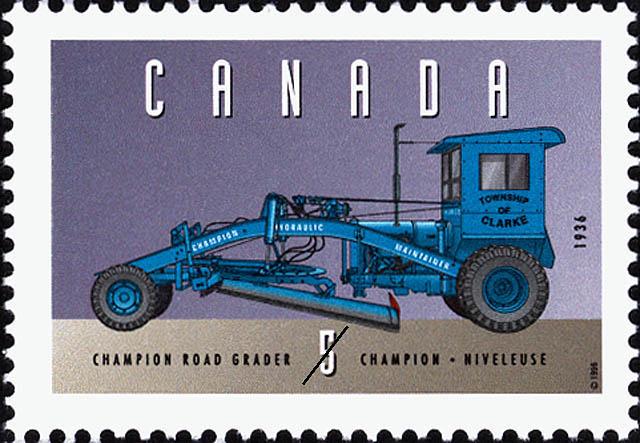 Champion Road Grader, 1936 Canada Postage Stamp | Historic Land Vehicles