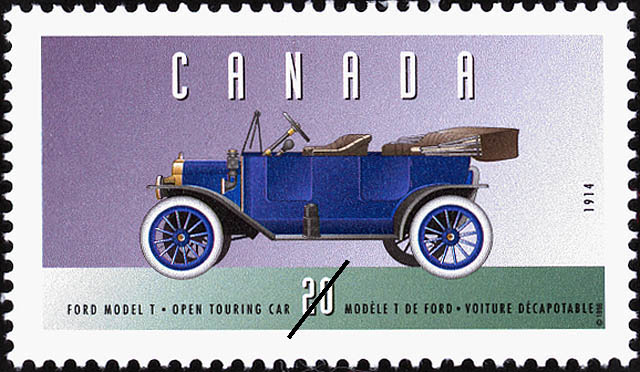 Ford Model T, 1914, Open Touring Car Canada Postage Stamp   Historic Land Vehicles