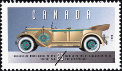 McLaughlin-Buick Model 28-496, 1928, Special Car Canada Postage Stamp | Historic Land Vehicles