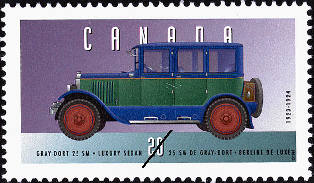 Gray-Dort 25 SM, 1923-1924, Luxury Sedan Canada Postage Stamp   Historic Land Vehicles