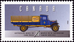 Gotfredson Model 20, 1924, Farm Truck Canada Postage Stamp | Historic Land Vehicles