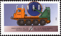 Robin-Nodwell RN 110, 1962, Tracked Carrier Canada Postage Stamp | Historic Land Vehicles