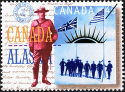 Law and Order Canada Postage Stamp | Yukon Gold Discovery, 1896-1996