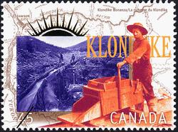Klondike Bonanza Canada Postage Stamp | Yukon Gold Discovery, 1896-1996