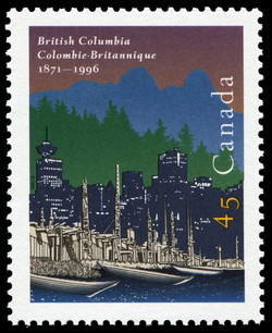 British Columbia, 1871-1996 Canada Postage Stamp