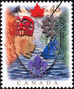 Heraldry Canada Postage Stamp